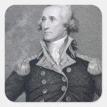 George Washington, grabado por Asher Brown Durand Colcomanias Cuadradass