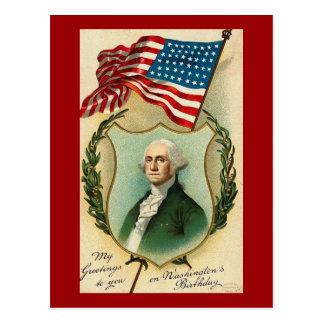 George Washington Greetings Postcard