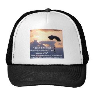 George Washington Honors His Troops Trucker Hat