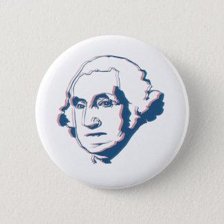 george washington in 3d button