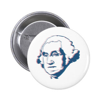george washington in 3d button