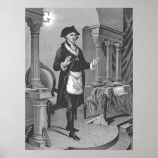 George Washington In Masonic Regelia 2 Poster
