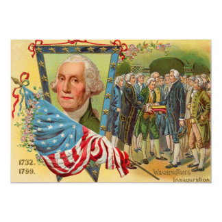 George Washington Inauguration American Flag Card