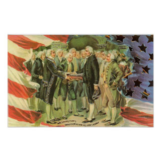 George Washington Inauguration Vintage Poster