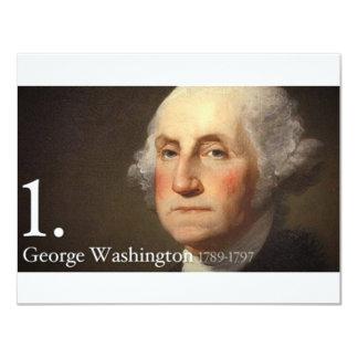 """George Washington Invitación 4.25"""" X 5.5"""""""
