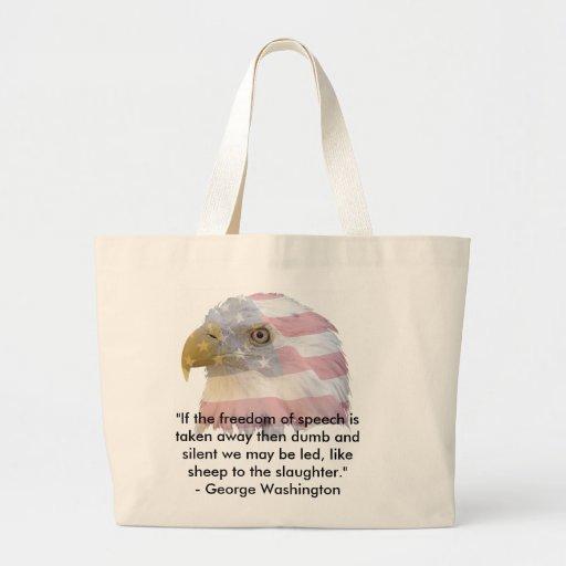 George Washington Jumbo Tote Bag