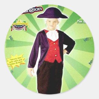 """George Washington"" kids costume Classic Round Sticker"