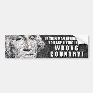 ¿George Washington le ofende? Pegatina Para Auto