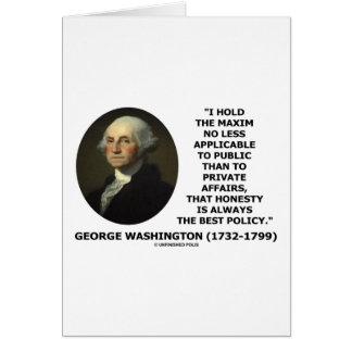George Washington Maxim Honesty Best Policy Quote Card