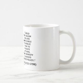 George Washington Maxim Honesty Best Policy Quote Coffee Mug
