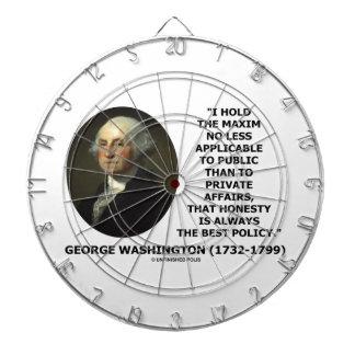 George Washington Maxim Honesty Best Policy Quote Dartboard With Darts
