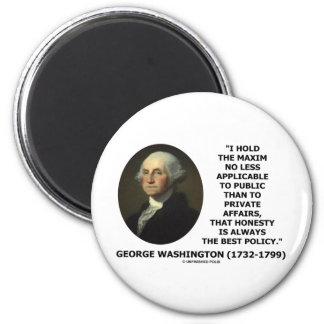 George Washington Maxim Honesty Best Policy Quote 2 Inch Round Magnet