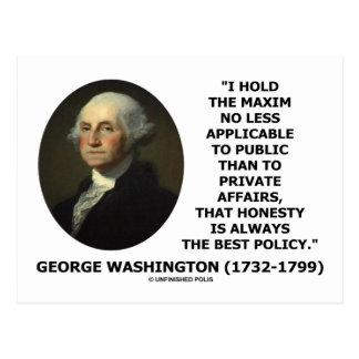 George Washington Maxim Honesty Best Policy Quote Postcards