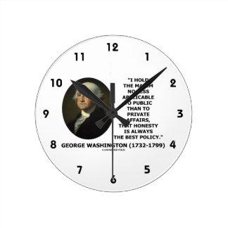 George Washington Maxim Honesty Best Policy Quote Round Clock