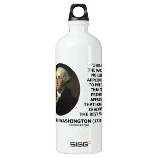 George Washington Maxim Honesty Best Policy Quote Water Bottle