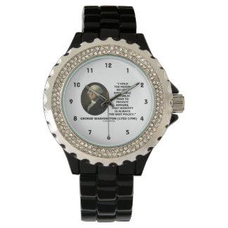 George Washington Maxim Honesty Best Policy Quote Wrist Watches