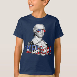 George Washington Merica Funny Patriotic Kids T-Shirt
