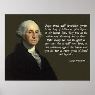 George Washington Money Quote Posters