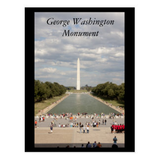 George Washington Monument Postcard