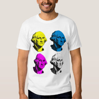 George Washington -- Multi coloreada Remeras