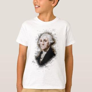 George Washington Newsprint Portrait T-Shirt