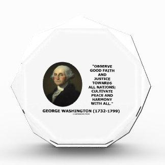 George Washington observa cita de la justicia de