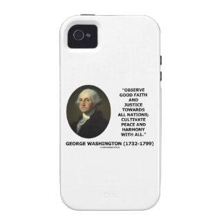 George Washington observa cita de la justicia de iPhone 4 Carcasas