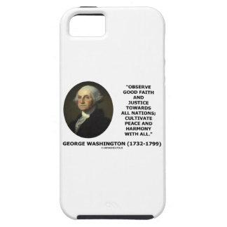 George Washington observa cita de la justicia de iPhone 5 Carcasas
