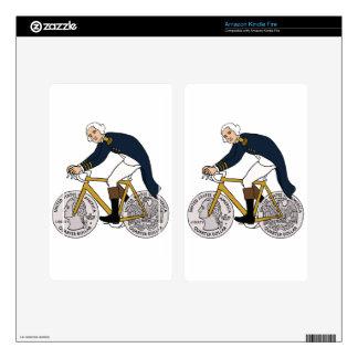George Washington On Bike With Quarter Wheels Kindle Fire Skin