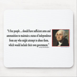 George Washington on Gun Rights Mouse Pad