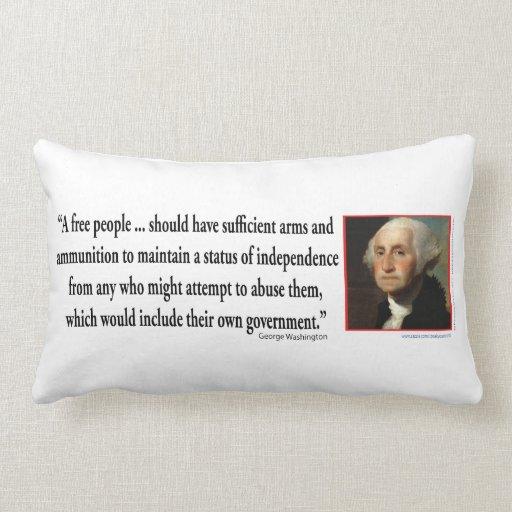 George Washington on Gun Rights Throw Pillow