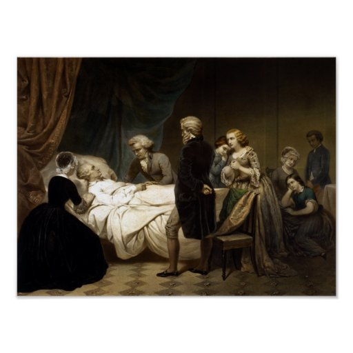 George Washington On His Deathbed Poster