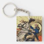 George Washington on Horseback Acrylic Key Chains