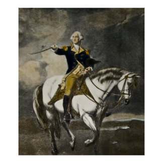 George Washington on Horseback at Trenton Poster