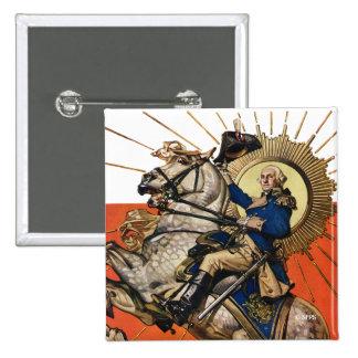 George Washington on Horseback Button