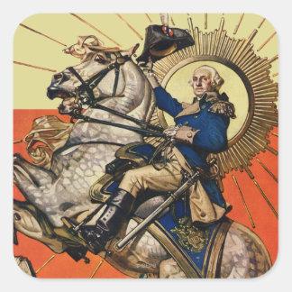 George Washington on Horseback Square Sticker