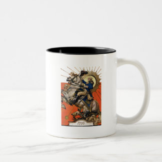 George Washington on Horseback Two-Tone Coffee Mug