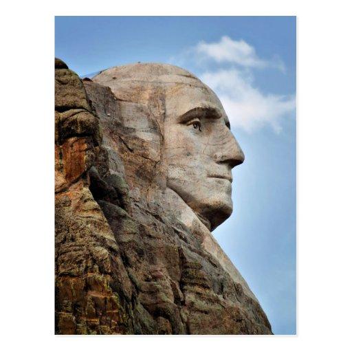 George Washington on Mount Rushmore Postcard
