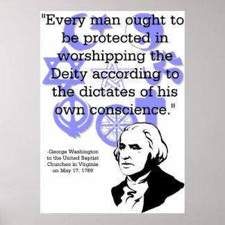 George Washington On Religion Print