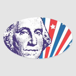 George Washington Oval Sticker