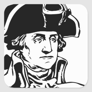 George Washington Pegatina Cuadrada