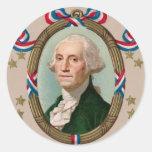 George Washington Pegatina Redonda
