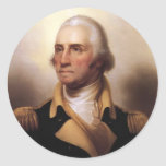 George Washington Pegatina Redonda
