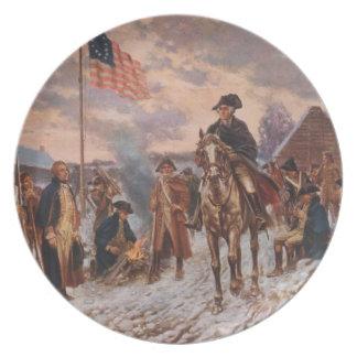 George Washington, placa de colector de la fragua  Plato De Comida