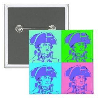 George Washington Pop Art Button