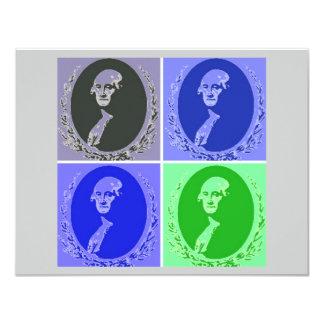 George Washington Pop Art Custom Announcements