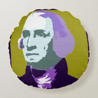 George Washington Pop Art No. 1 Round Pillow