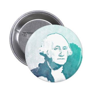 George Washington Pop Art Portrait Pinback Button