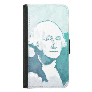 George Washington Pop Art Portrait Wallet Phone Case For Samsung Galaxy S5