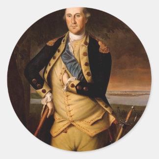 George Washington por Peale 1776 Pegatina Redonda